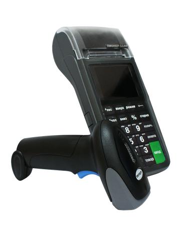 Сканер штрихкода и кассовый аппарат Пионер