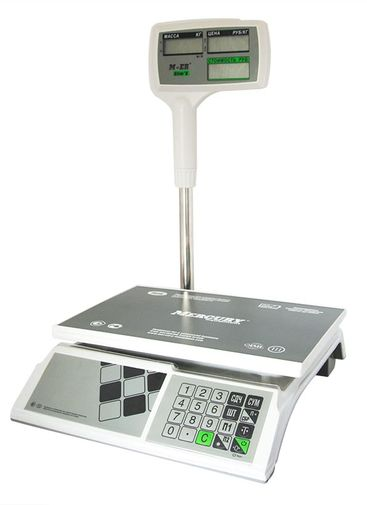 Торговые весы m-er 326ACPX lcd kassy-ofd.ru